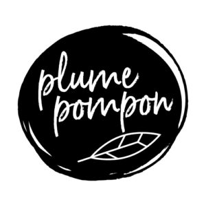 Logo de Plume Pompon, entreprise de stylisme pour enfants et bébés